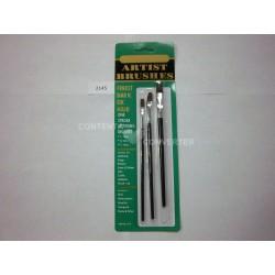 3 Pc. Artist Paint Brushes-Dark Ox Hair 12/144 case