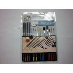 15 pc Combo Artist Brush Set Pk 12/72