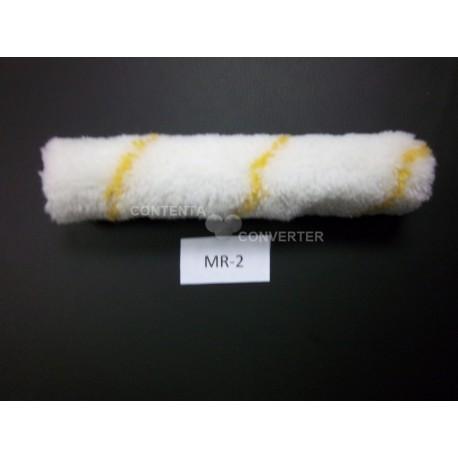 """6"""" X 3/8"""" Nap Draylon Mini Roller Cover 10/500 Case (Yellow Stripe)"""
