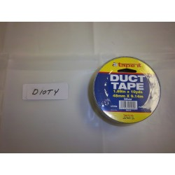 "DUCT TAPE 2""X10 YARDS SILVER 48/CASE"