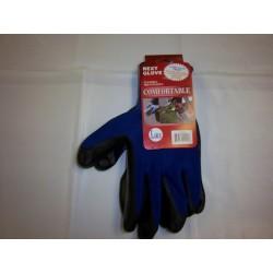 Blue Polyester Work Gloves Nitrile Coated 12/120/Case