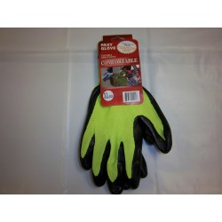 Neon Green Polyester Work Gloves Nitrile Coated 12/120/Case
