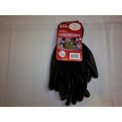Black Polyester Gloves with Nitrile Coating 12/120 Case